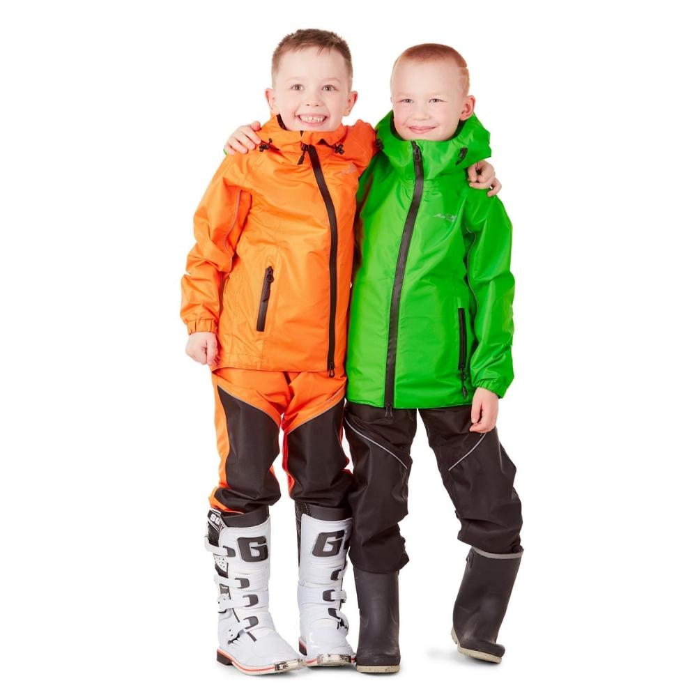 Детский комплект дождевой (куртка, брюки) EVO Kids GREEN (мембрана)