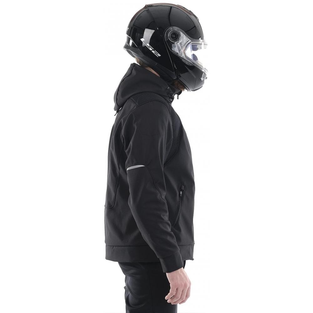 Мототолстовка DF Urban Black с защитой