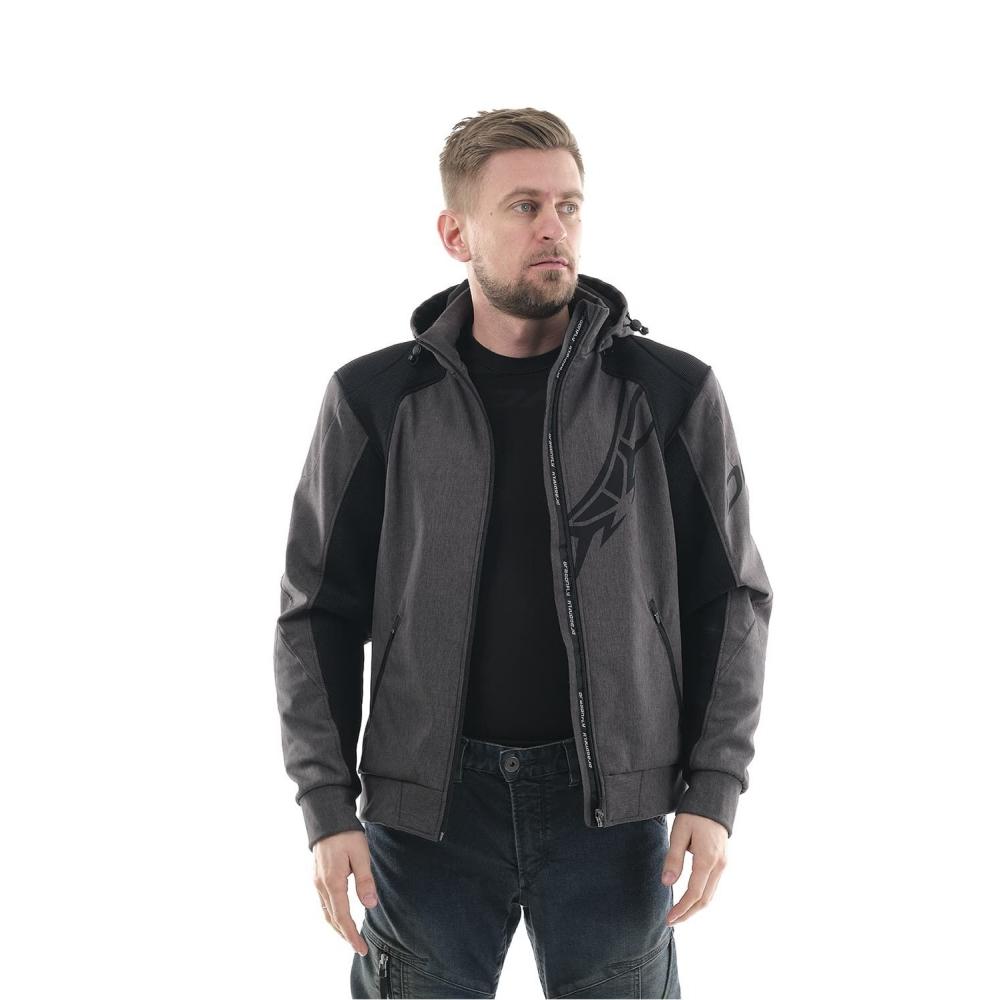 Мототолстовка DF Urban Grey с защитой