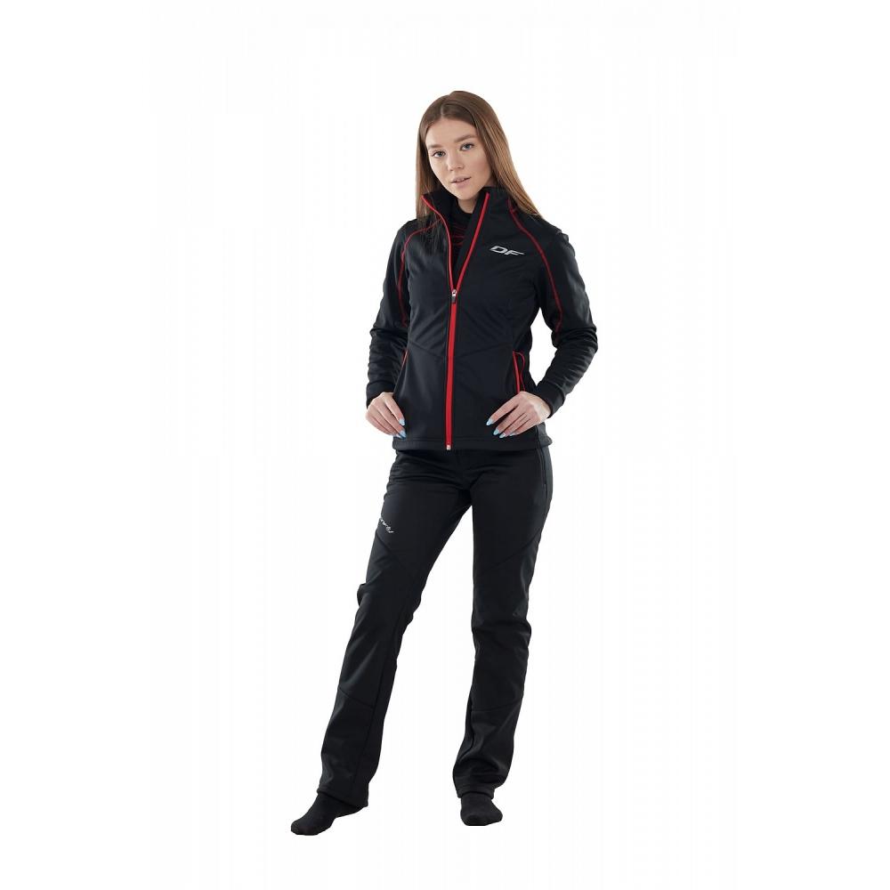 Куртка Explorer Black-Red женская, Softshell