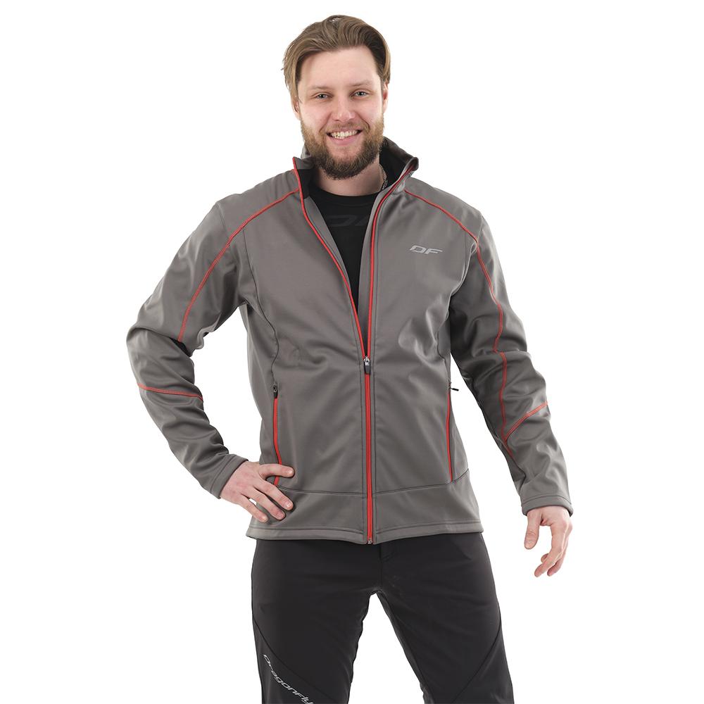 Куртка Explorer Grey-Red мужская, Softshell