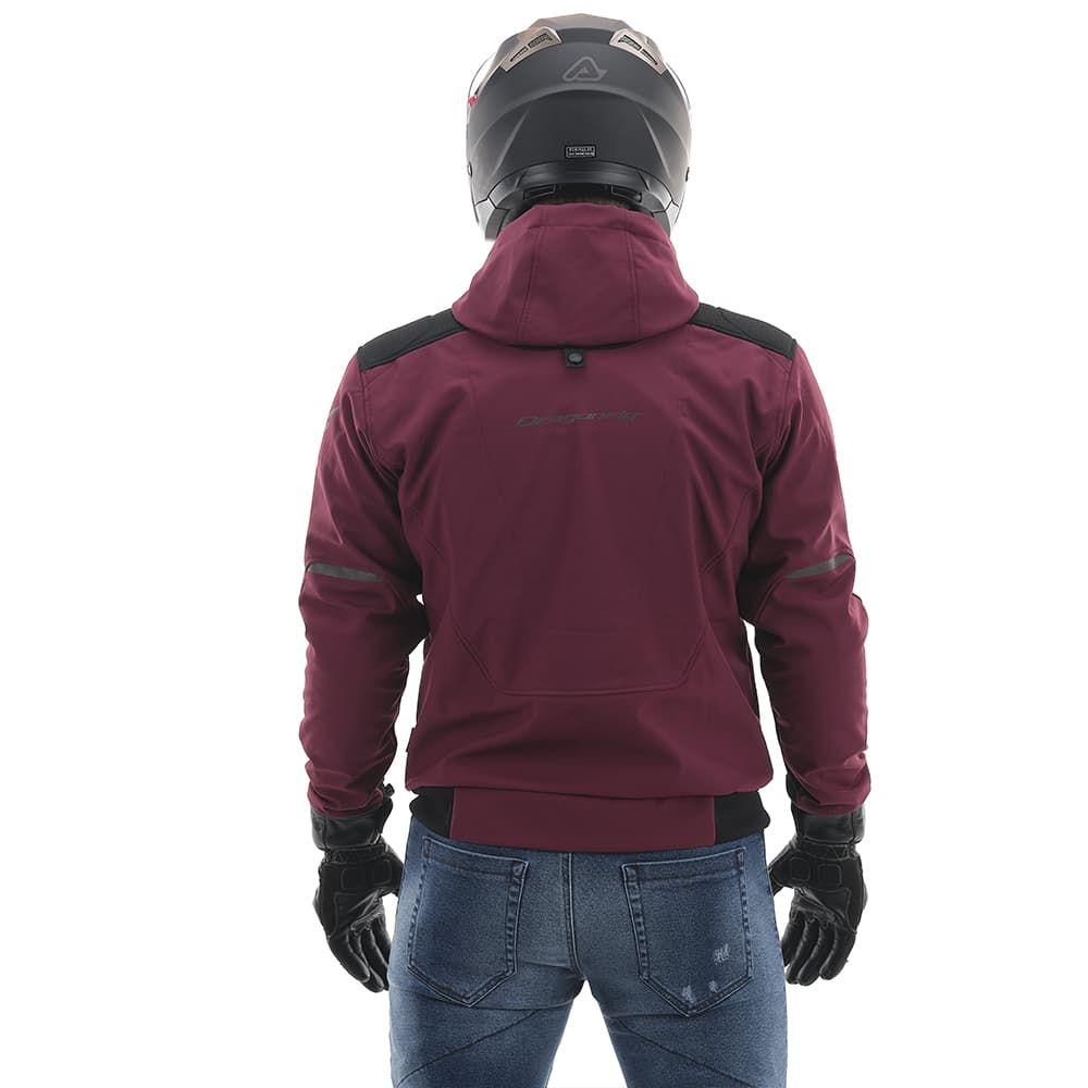 Мототолстовка DF Urban Bordo с защитой