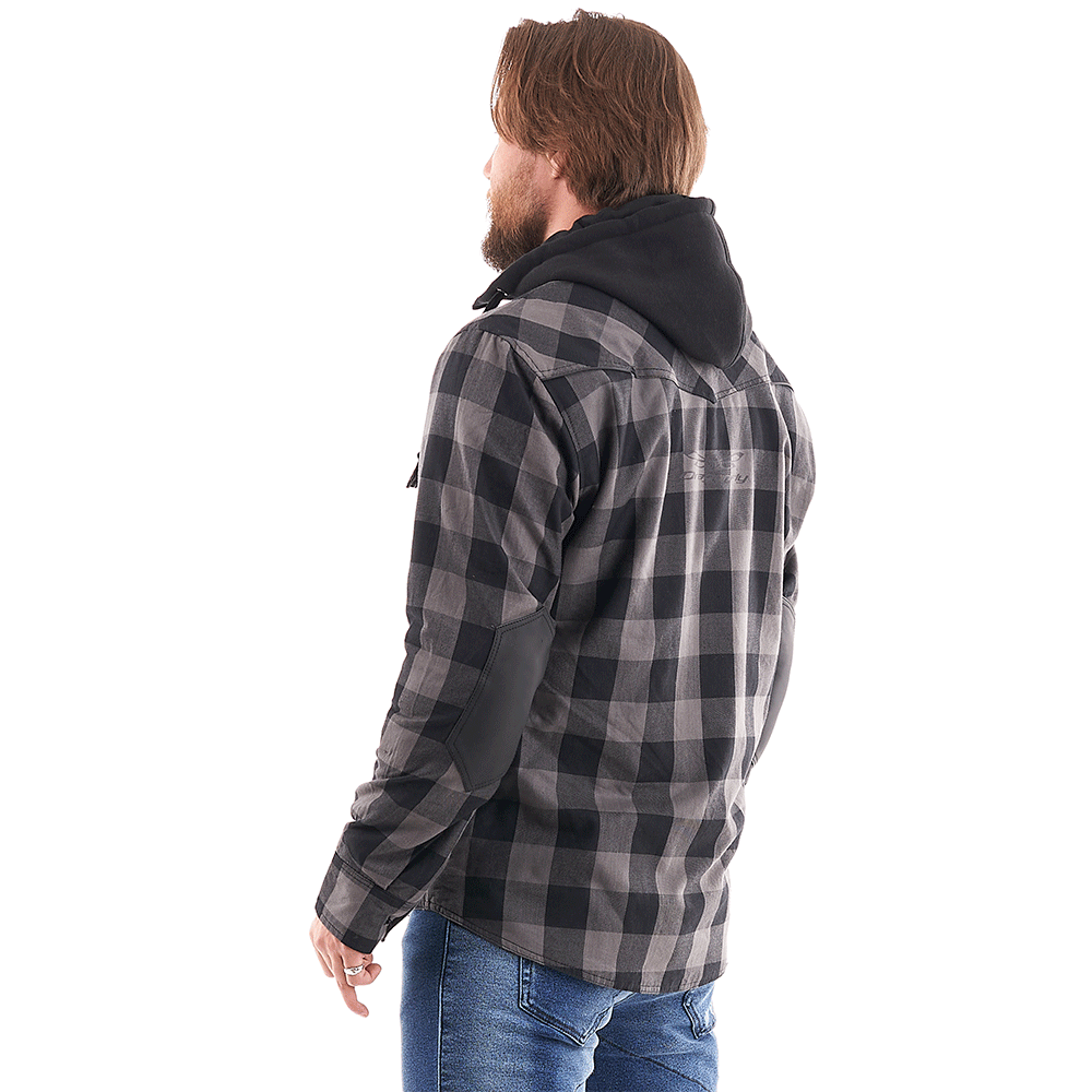 Моторубашка STREETFIGTER Grey с защитой