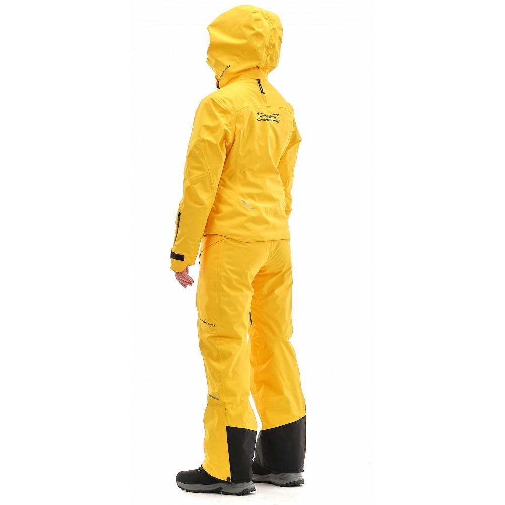 Куртка горнолыжная утепленная Gravity Premium WOMAN Yellow-Dark Ocean