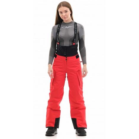 Штаны горнолыжные утепленные Gravity Premium WOMAN Red Fluo