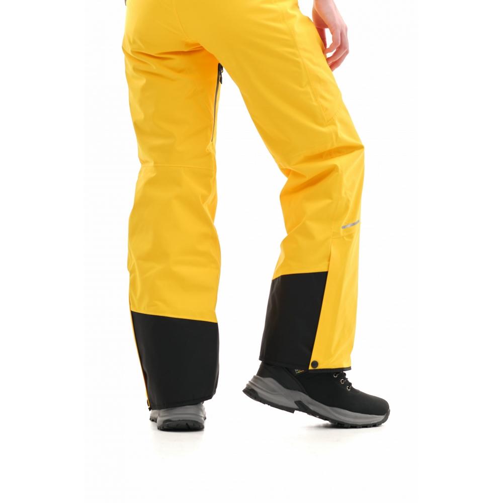 Штаны горнолыжные утепленные Gravity Premium WOMAN Yellow-Dark Ocean