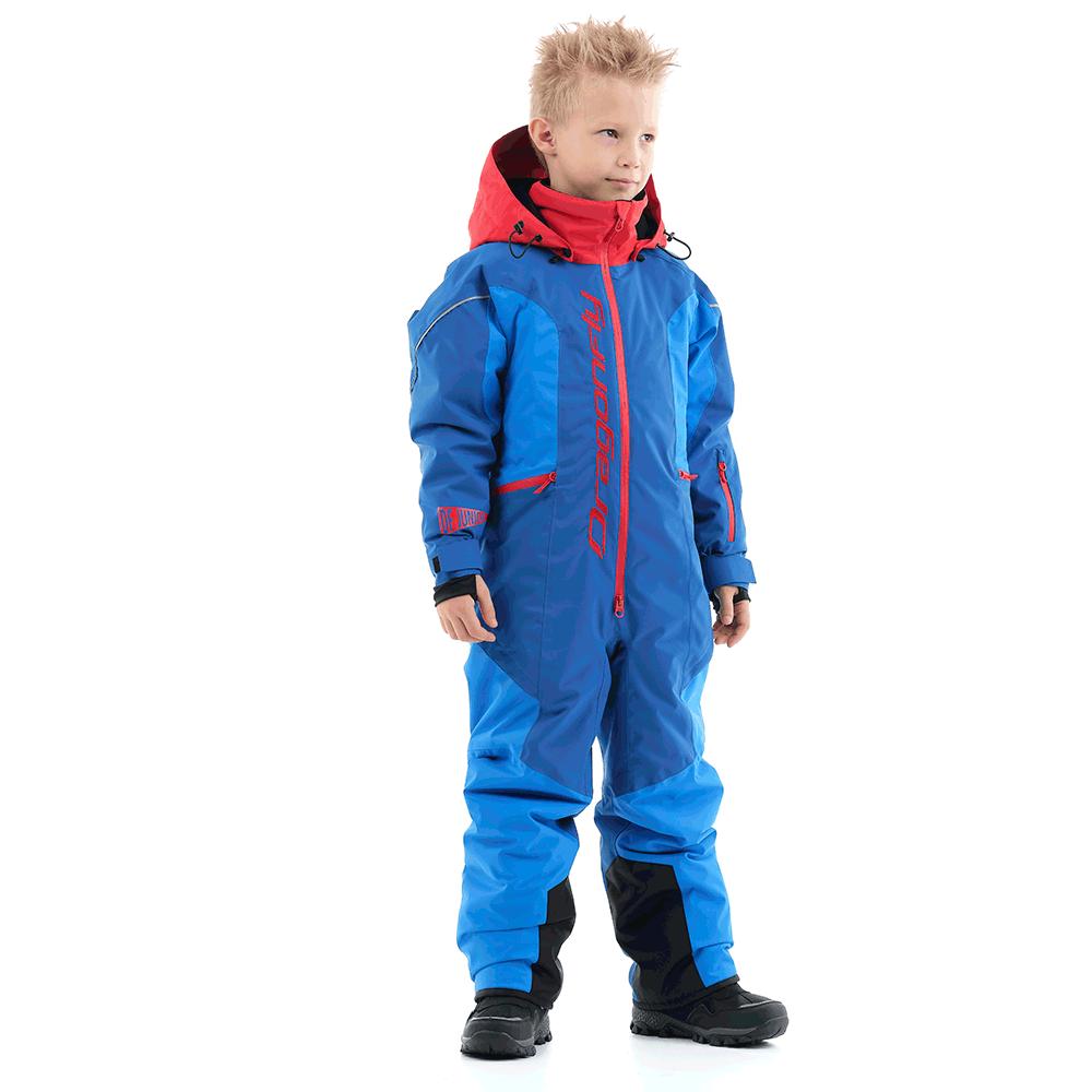 Зимний утепленный комбинезон DF Junior Gravity Blue-Red